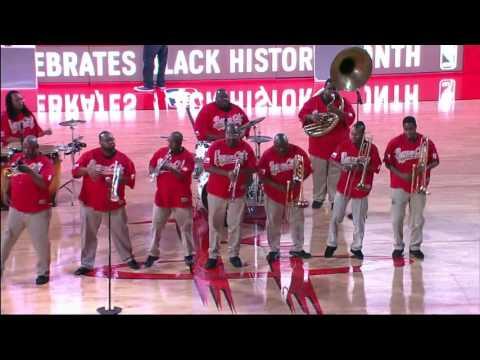 Bayou City Brass Band- Houston Rockets- Mardi Gras Night