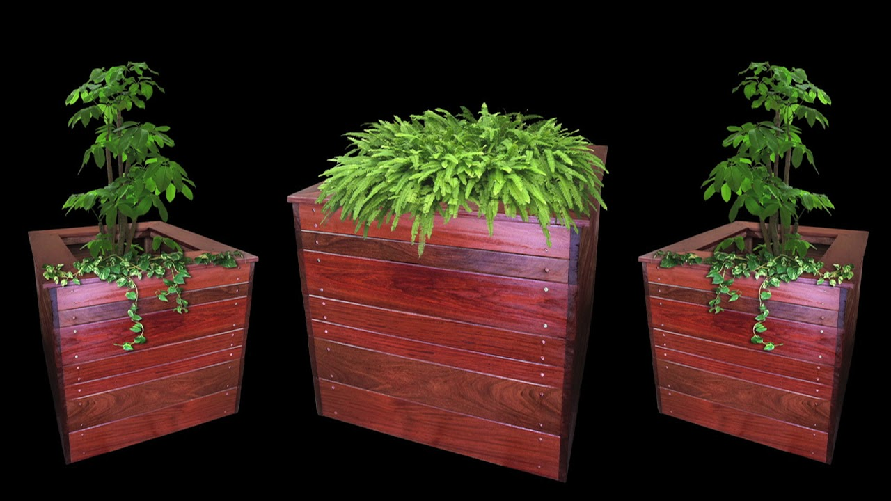 Custom Wood Garden Planters By Olis Wood, Inc.