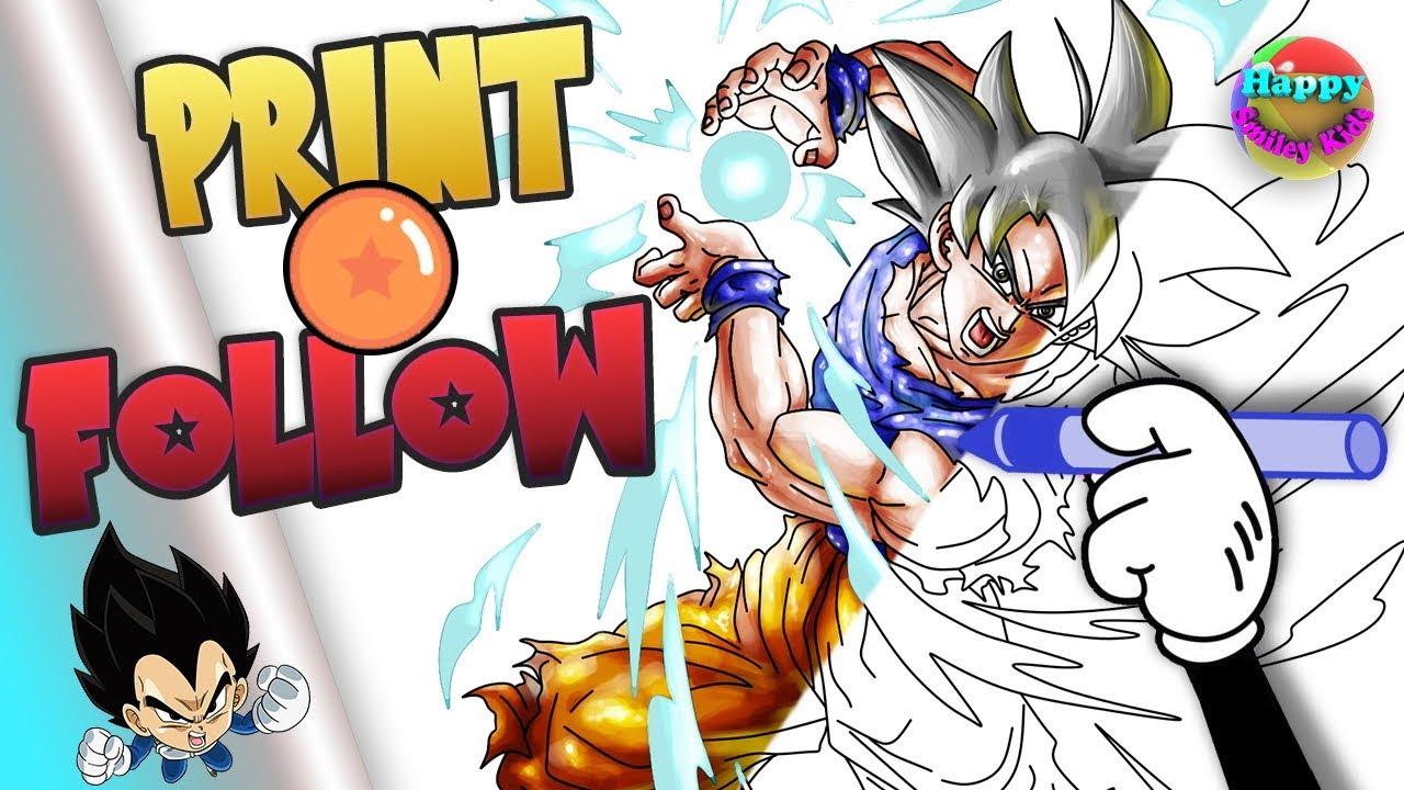 Dragon Ball Z Coloring Pages Goku Ultra Instinct Printable Youtube