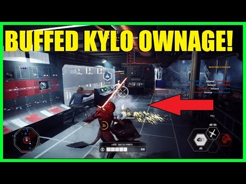Star Wars Battlefront 2 - Post Patch Kylo! He is REALLY good now! | Clutchest win you will ever see!