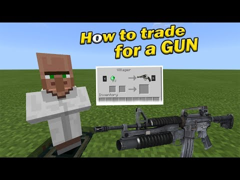 HOW TO TRADE FOR A GUN | Minecraft PE