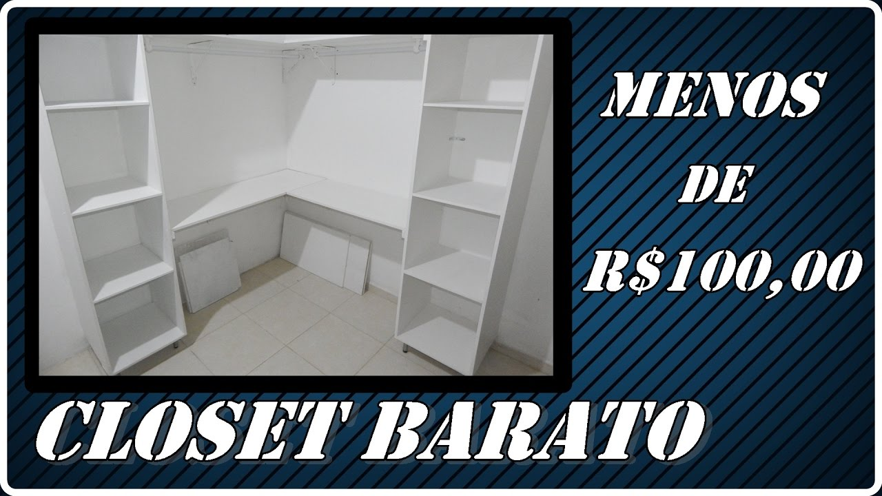 fa a voc mesmo closet youtube. Black Bedroom Furniture Sets. Home Design Ideas