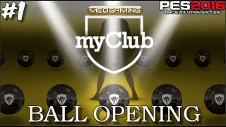 "PES 2016 myClub - 100.000 GP | Pack ""Ball Opening"" with Black Ball #1"