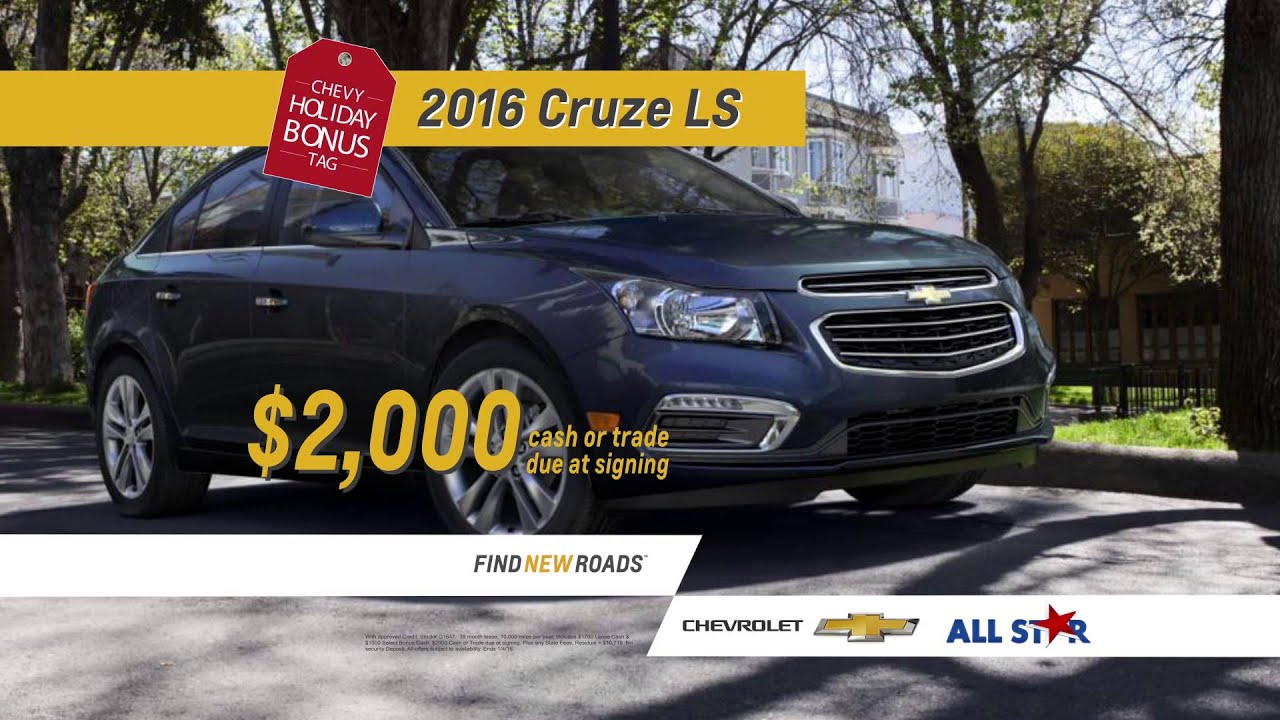 All Star Chevrolet Chevy Holiday Bonus Tag Sale 2016 Chevrolet