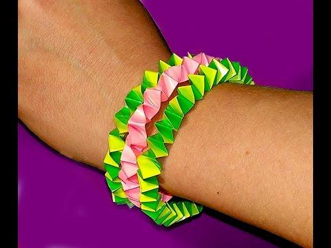 DIY Easy Bracelet. Paper bracelet only 3 minutes. Great idea for gifts
