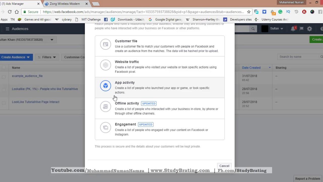12. custom audience part 2  | Facebook Ads tutorial  in Urdu/Hindi