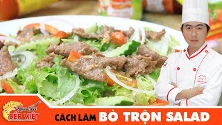 Cách làm Bò Trộn Salad chua ngọt thật ngon | How to make Beef Salad with Sweet and Sour Sauce