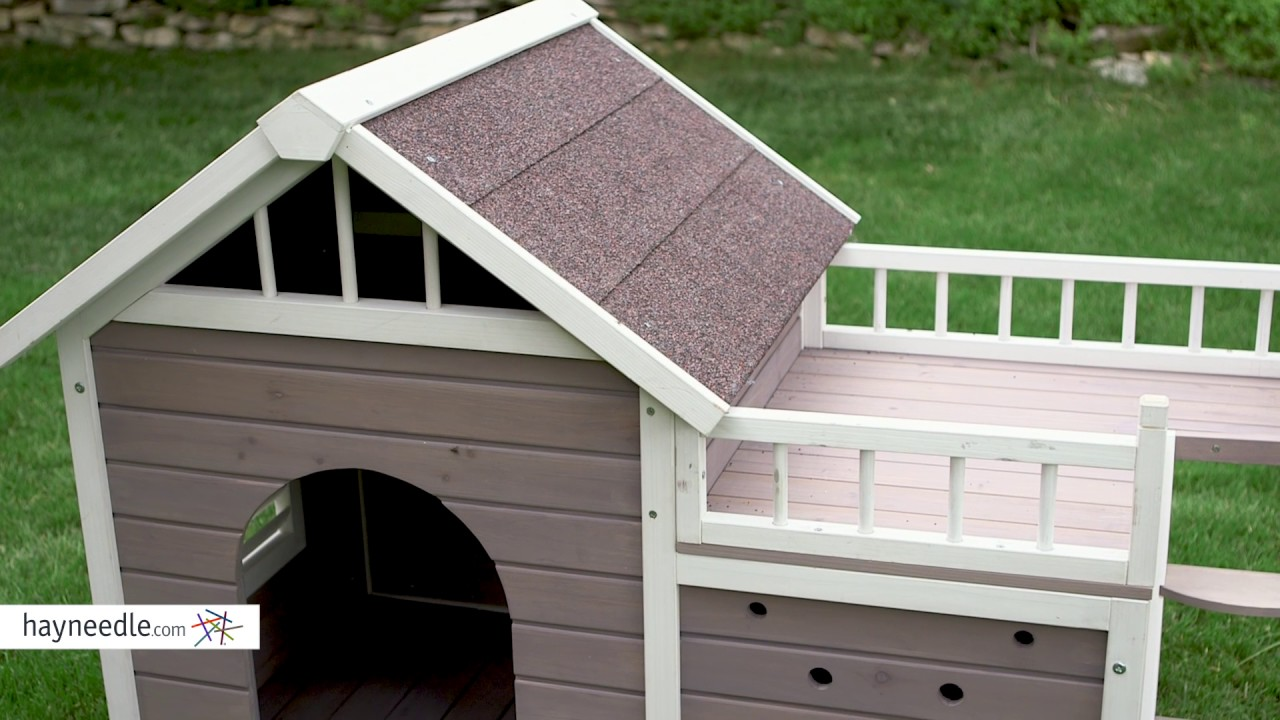 Boomer George Beacon Dog House With Sunning Side Deck Product Review Video