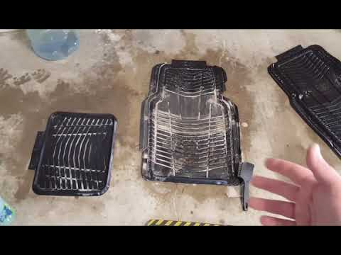 A SIMPLE WAY TO CLEAN DIRTY RUBBER FLOOR MATS WITH 2 PRODUCTS