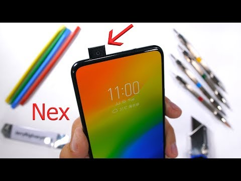 Vivo Nex S - Hidden Camera Durability Test! - Scratch and Bend