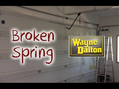 How to Diagnose a Broken Garage Door Spring
