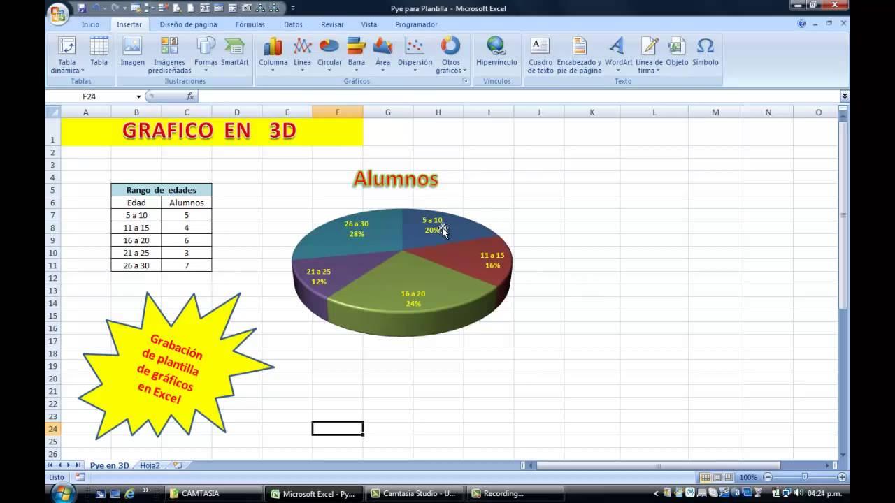 Excel - Plantillas para Gráficos - YouTube