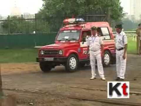 Indian PM Narendra Modi arrives in Kolkata