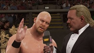 "WWE 2K16 gameplay: ""Stone Cold"" Steve Austin vs. Jake ""The Snake"" Roberts"