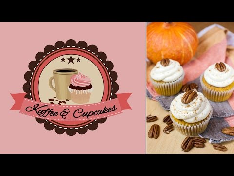 Kürbis-Cupcakes mit Zimt-Frischkäse-Frosting | Kaffee & Cupcakes
