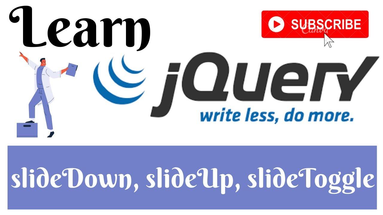 jQuery Lecture - 13 slideUp , slideDown & SlideToggle Tutorial in Hindi / Urdu