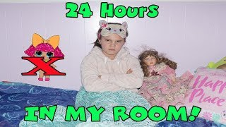 24 Hours In My Room! 24 Hour Challenge With The Doll Maker And No Lol Dolls