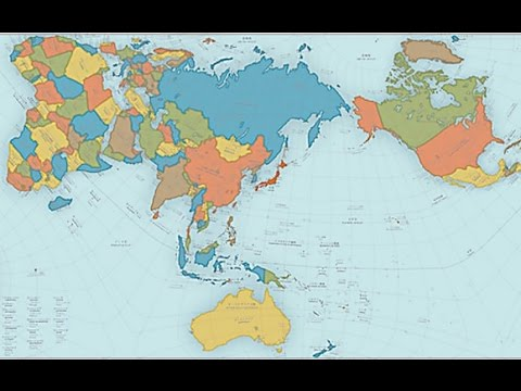 Authagraph World Map turns the Earth into a rectangle using