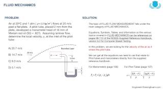 FE Exam Practice Problem - Fluid Mechanics