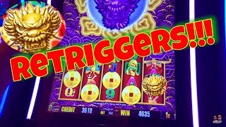 💰 BIG WIN💰 5 Dragons Gold Slot Machine!! RETRIGGERS!, Mystery Bonus! Aristocrat Slot!