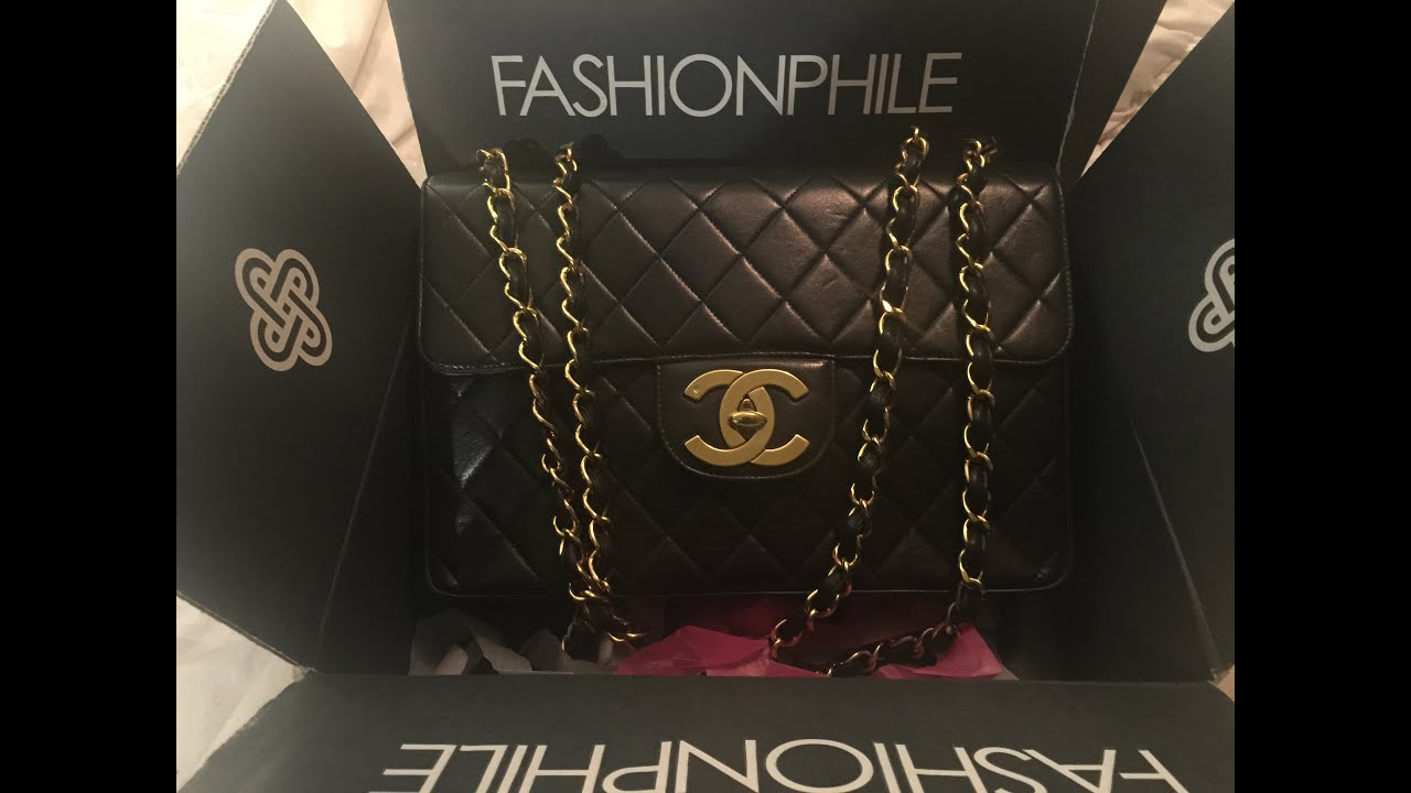daa271c978ad My New To Me Vintage Chanel Jumbo from Fashionphile Unboxing/reveal 2015