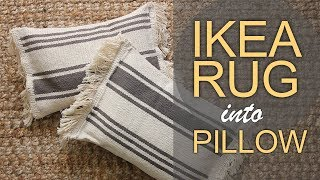 DIY IKEA HACK | Sew a pillow out of a rug!