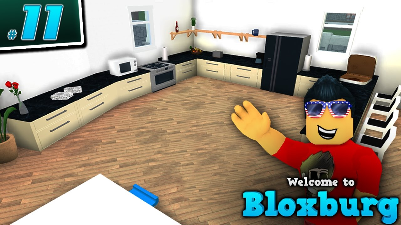 Kitchen remodel in welcome to bloxburg ep 11 roblox for Kitchen designs bloxburg