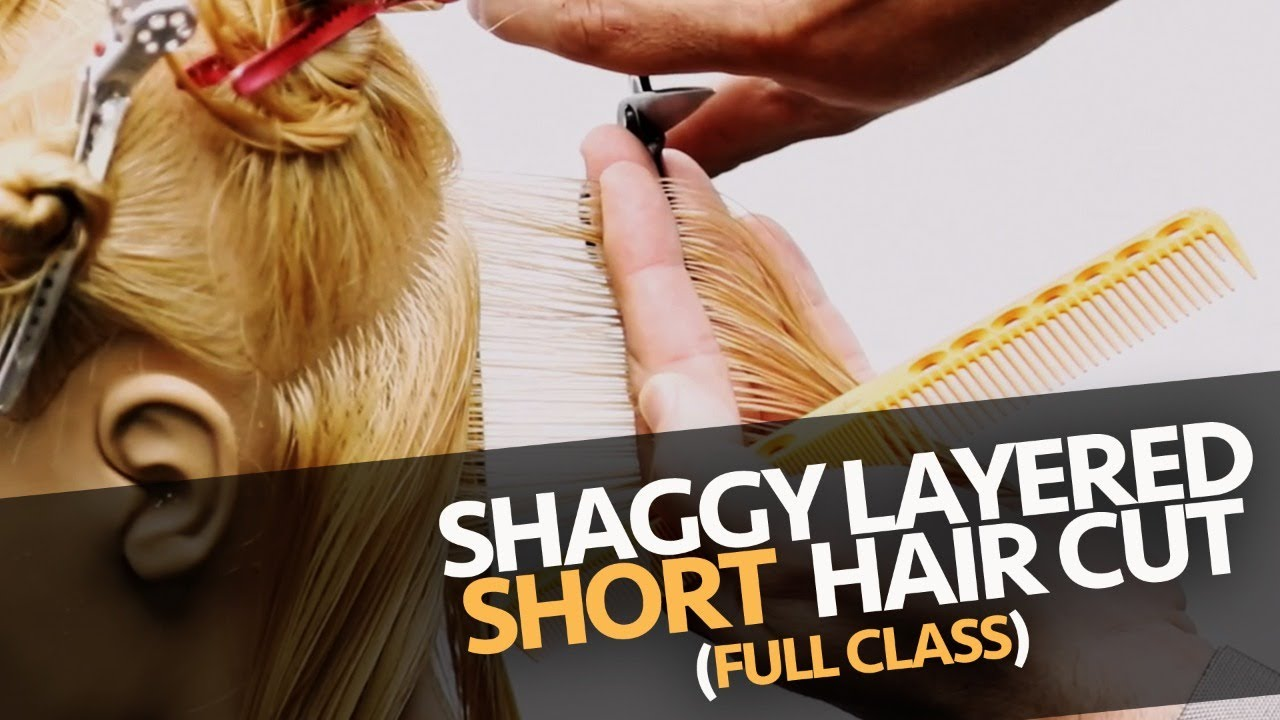 🔴 SHAGGY SHORT HAIRCUT TUTORIAL