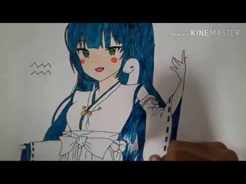Shinichi Art – Vẽ Cung Bảo Bình tặng bn Nghi Art. Mog bn sẽ thích 🤗