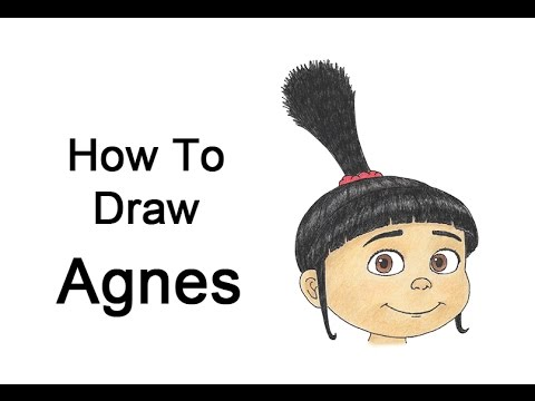 How to Draw Agnes from Despicable Me  YouTube