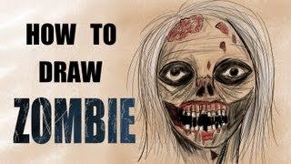 Ep. 87 How to draw a zombie (Walking Dead)