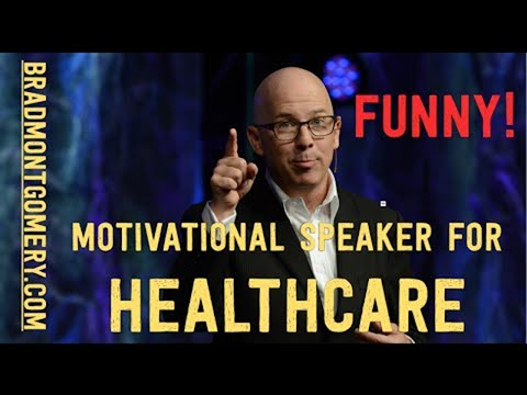 Funny Health Care Speaker | Hospice Motivational Speaker Brad Montgomery | Happiness at work