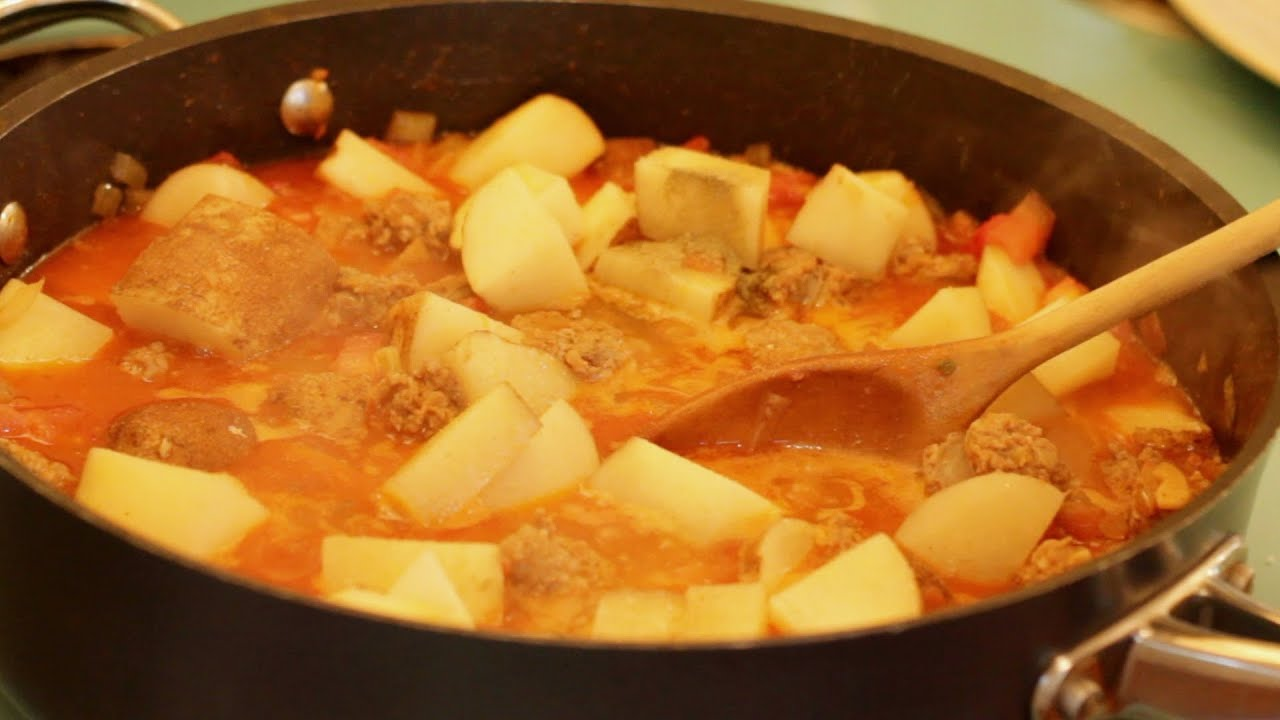 How to stew potatoes