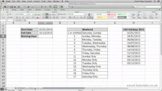 Microsoft Excel Tutorial: NETWORKDAYS and NETWORKDAYS.INTL Functions