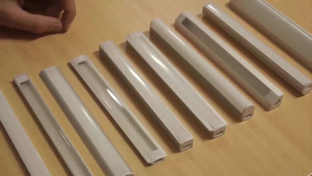 led aluminium profile f r led streifen youtube. Black Bedroom Furniture Sets. Home Design Ideas