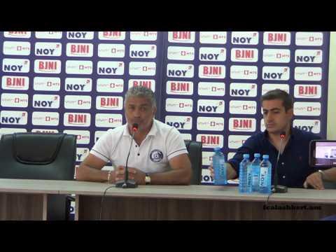 FC Alashkert - FC Santa Coloma. Pre-match press-conferences