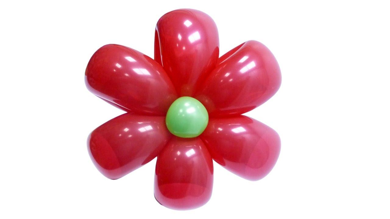Изготовление цветка ромашки из воздушных шаров - инструкция