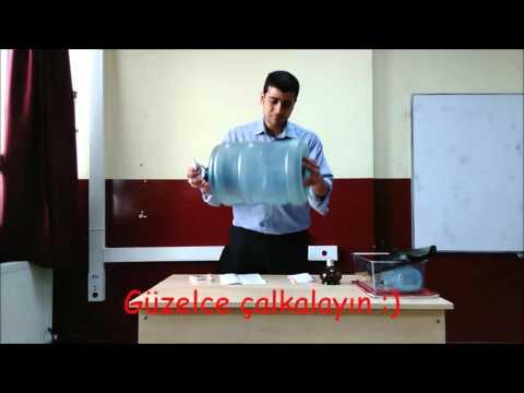 açık hava basıncı damacana deneyi youtube