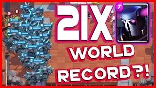 Clash Royale - 21 Pekkas! World Record?! - Mass P.e.k.k.a. Gameplay!