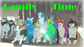 Family Time Wolves' Life 2 Roblox