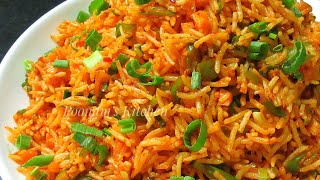 Veg Schezwan Fried Rice Recipe - Quick Schezwan Fried Rice Recipe in Hindi - Chinese Schezwan Rice