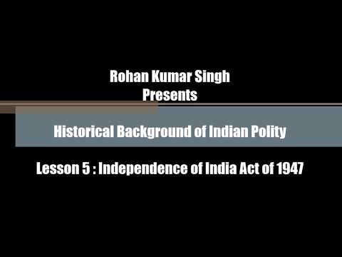 Independence of India Act of 1947