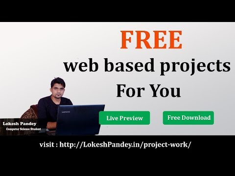 FREE Download Web Based Projects For Free , Live Preview , Download Source Code