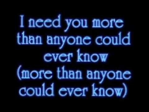 3T I Need You With Lyrics - YouTube