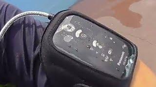 파나소닉 HX-A100 웨어러블 캠코더, 물가 수영장에…