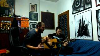 Seka Aleksić - Crno i zlatno (acoustic metal cover)