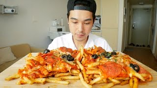 Pizza Fries - MUKBANG