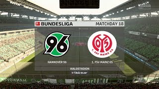 Hannover 96 vs 1. FSV Mainz 05 - Bundesliga - FIFA 18 PS4 Gameplay