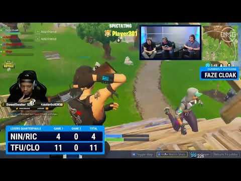 Ninja & King Richard Vs FaZe Clan | Friday Fortnite Week 2 | Losers Quarterfinals