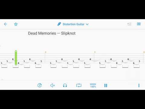 Dead Memories - Slipknot (GUITAR TABS) 2019
